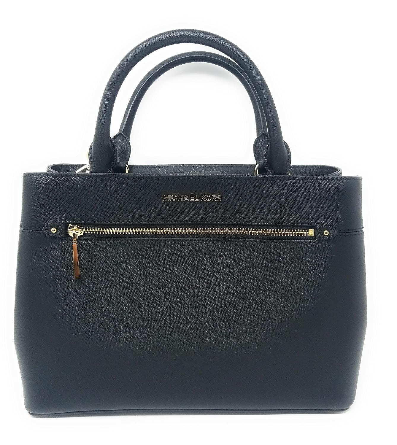 5abb3adad8ac Amazon.com: MICHAEL Michael Kors Women's HAILEE Medium Satchel Leather  Handbag (Black): Shoes