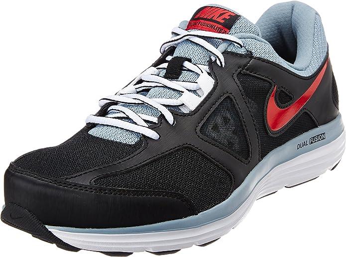Nike - Dual Fusion Lite 2 - Color: Celeste-Negro-Rojo - Size: 45.0: Amazon.es: Zapatos y complementos