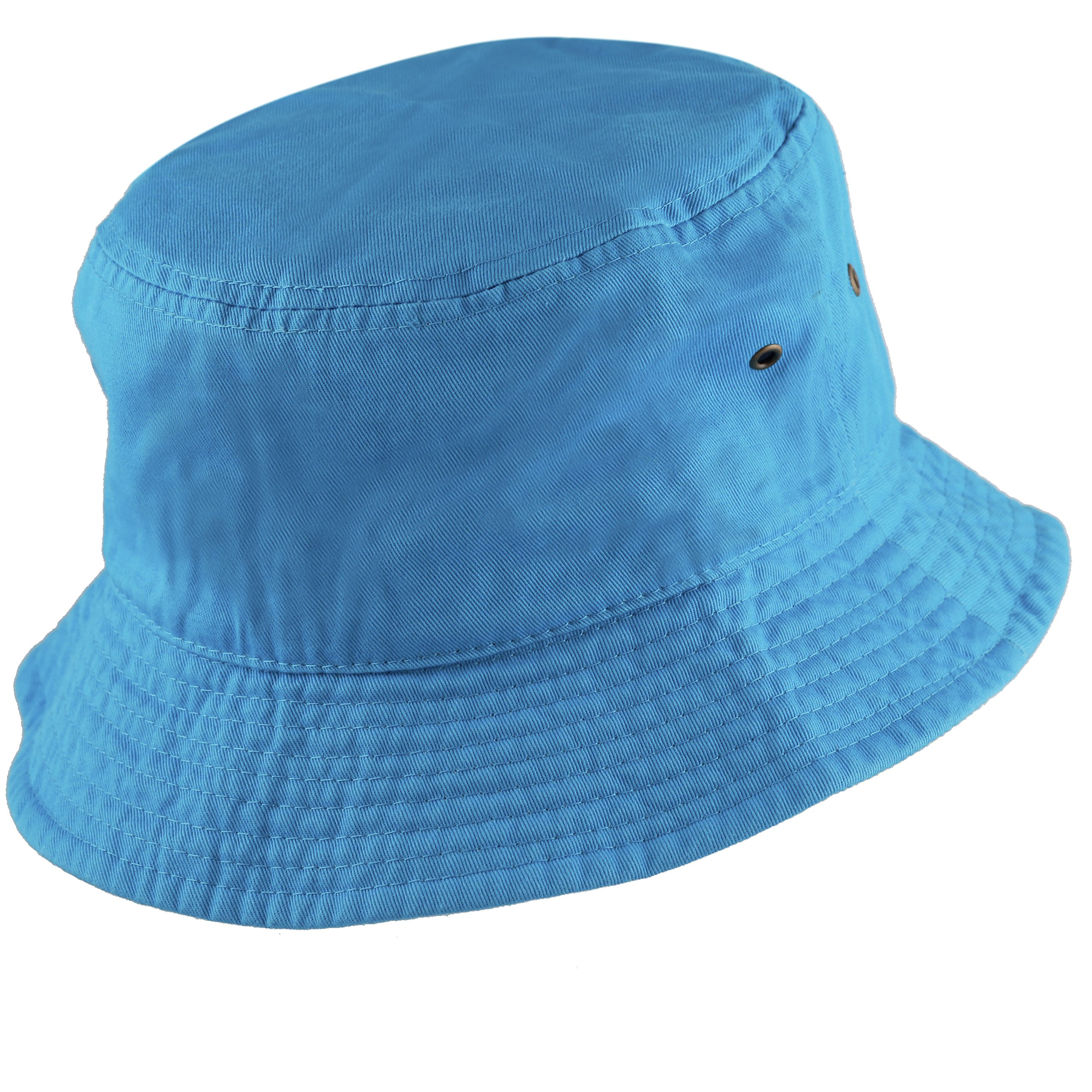 8df4ee9425a THE HAT DEPOT 300N Unisex 100% Cotton Packable Summer Travel Bucket Hat  (S M