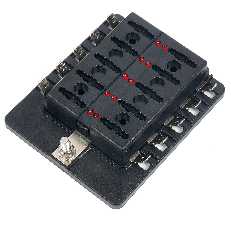 yaetek 6 way terminals circuit atc ato car auto blade fuse box block rh momcilovictransport com