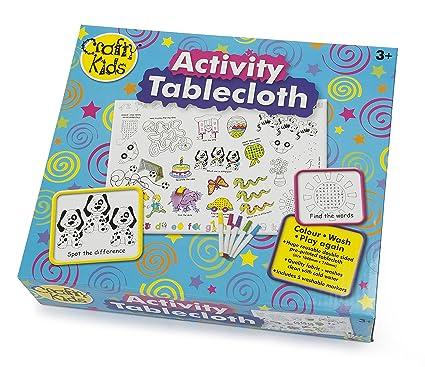 Amazoncom Crafty Kids Activity Tablecloth Home Kitchen