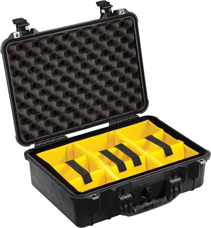Peli 1500 - Maleta rígida con compartimentos desplazables, negro