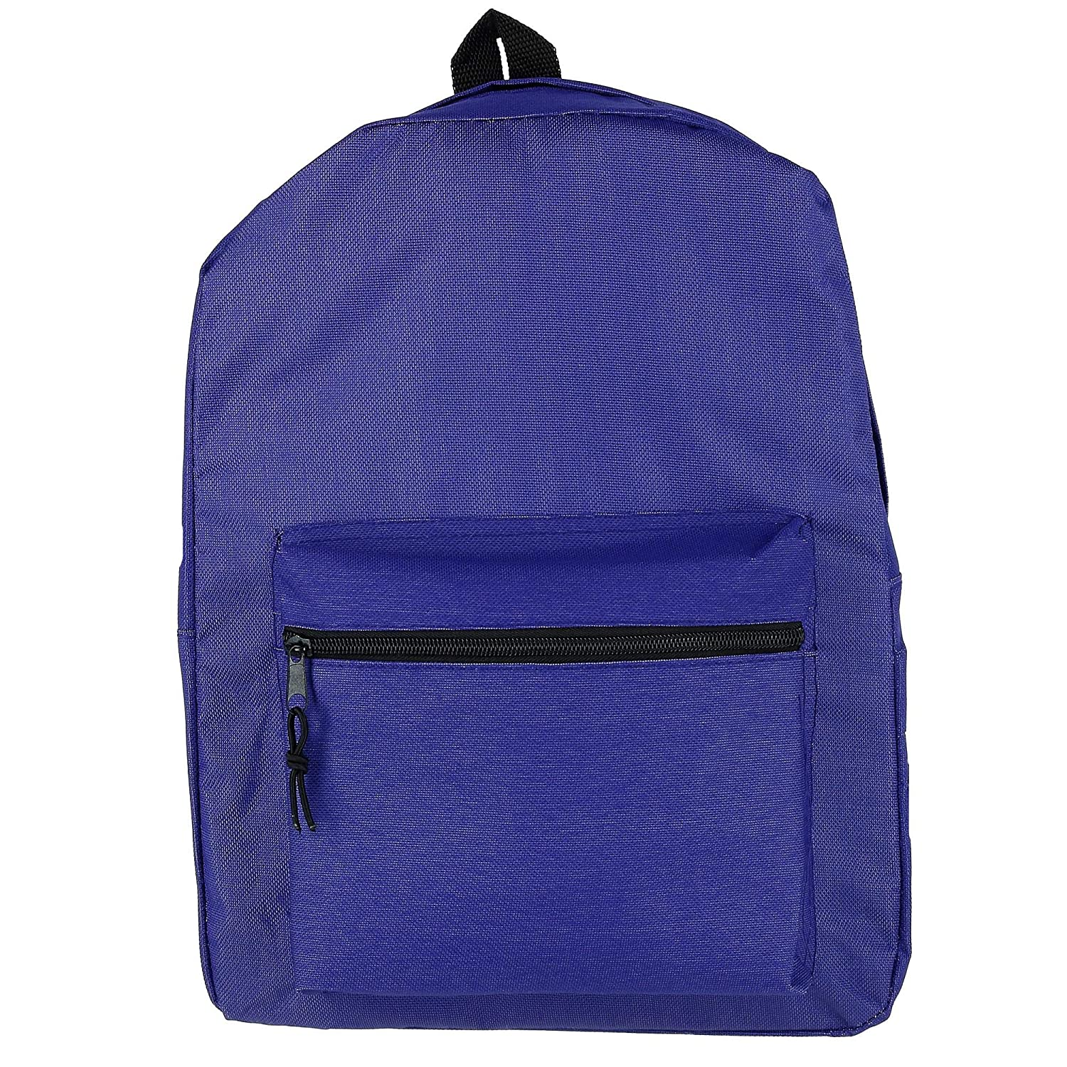 2 Moda Kids Solid Basic Backpack with Front Zipper Purple