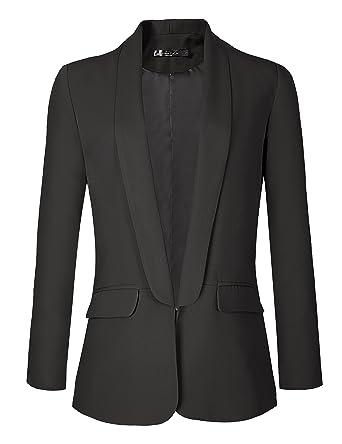 Urban Coco Women S Office Blazer Jacket Open Front At Amazon Women S