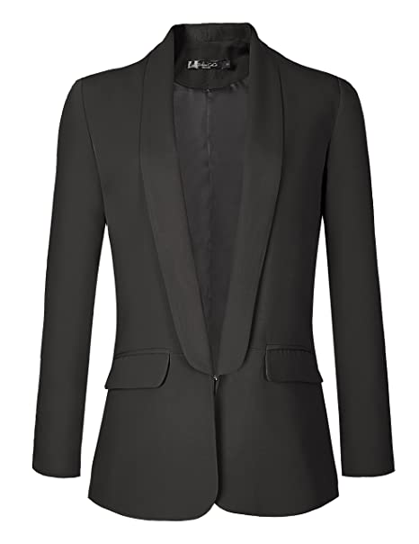 Urban CoCo Womens Office Blazer Jacket Open Front