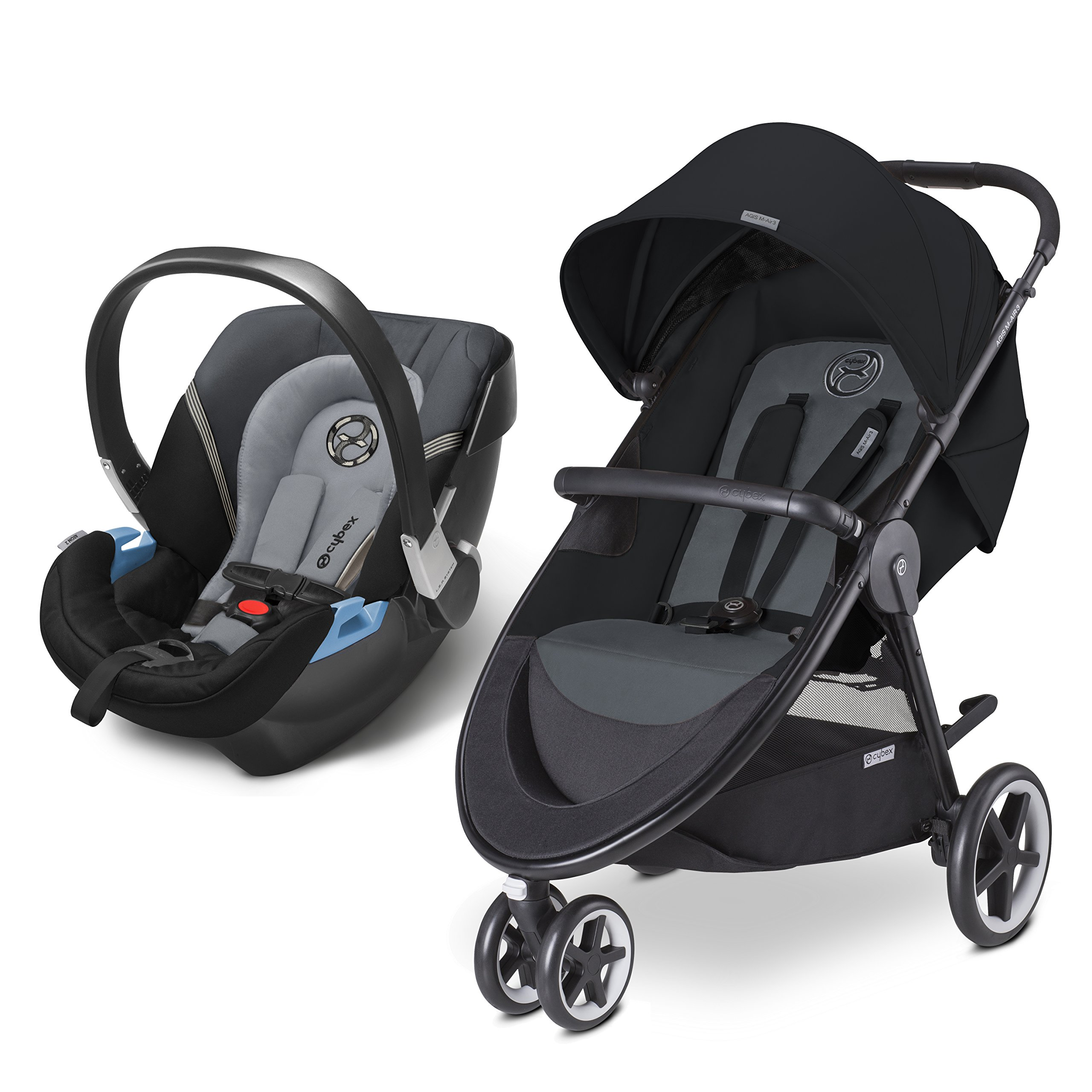 CYBEX Agis M-Air 3/Aton 2/Aton Base 2 Travel System, Moon Dust