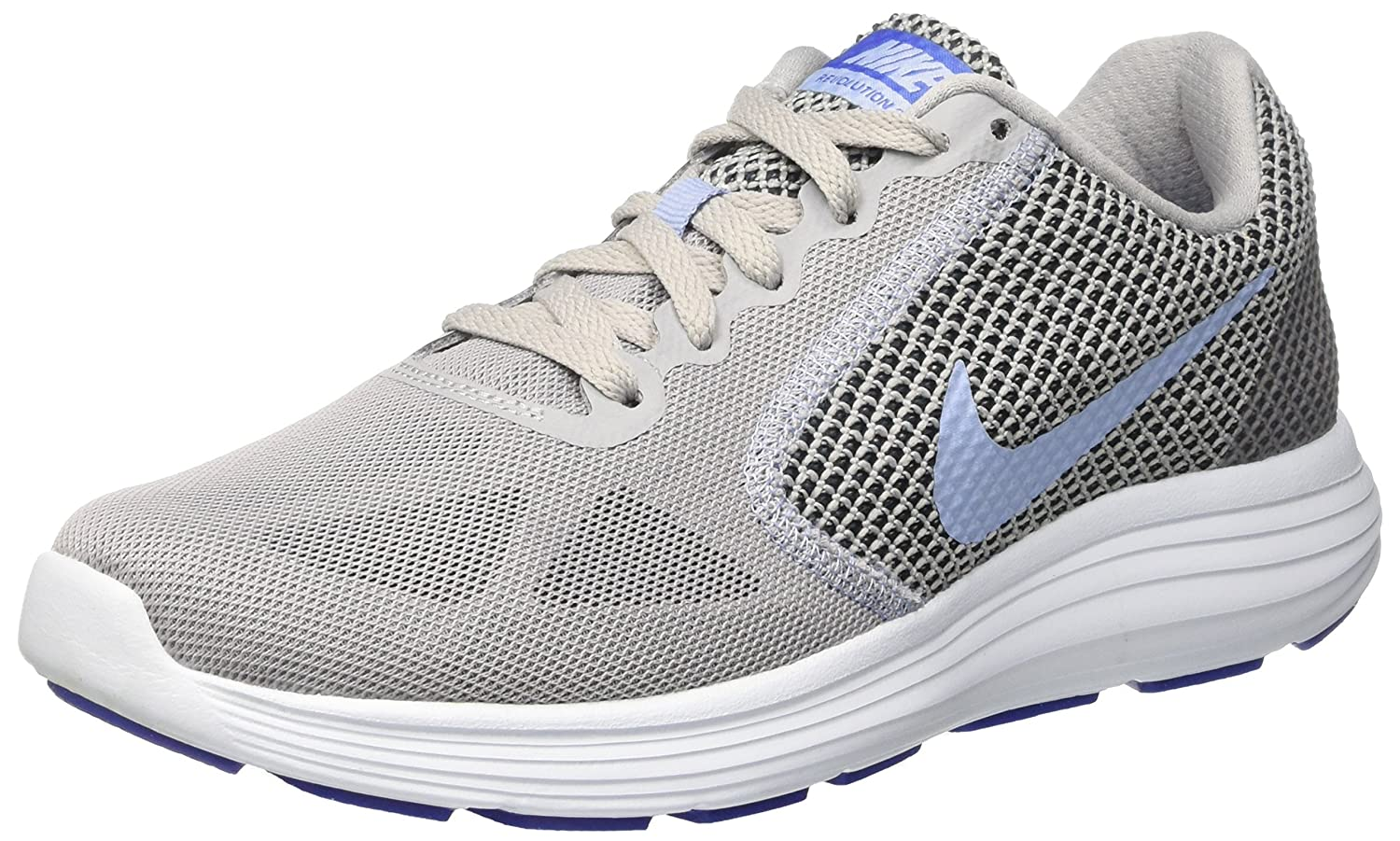 NIKE Women's Revolution 3 Running Shoe B01H60590M 7.5 B(M) US|Wolf Grey/Aluminum/Black/Blue Tint