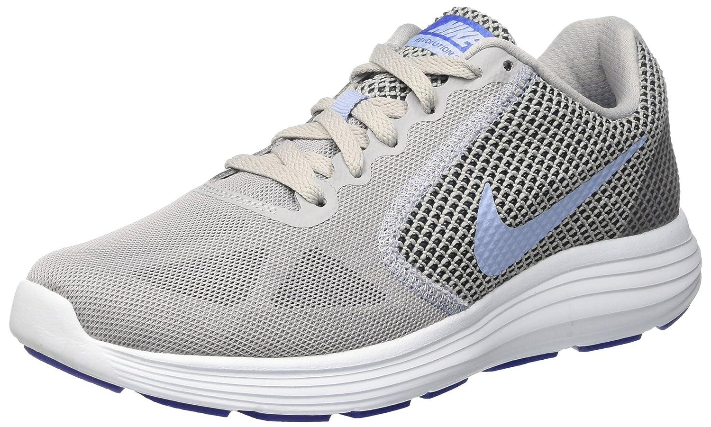 NIKE Women's Revolution 3 Running Shoe B01H605BSW 10 B(M) US|Wolf Grey/Aluminum/Black/Blue Tint