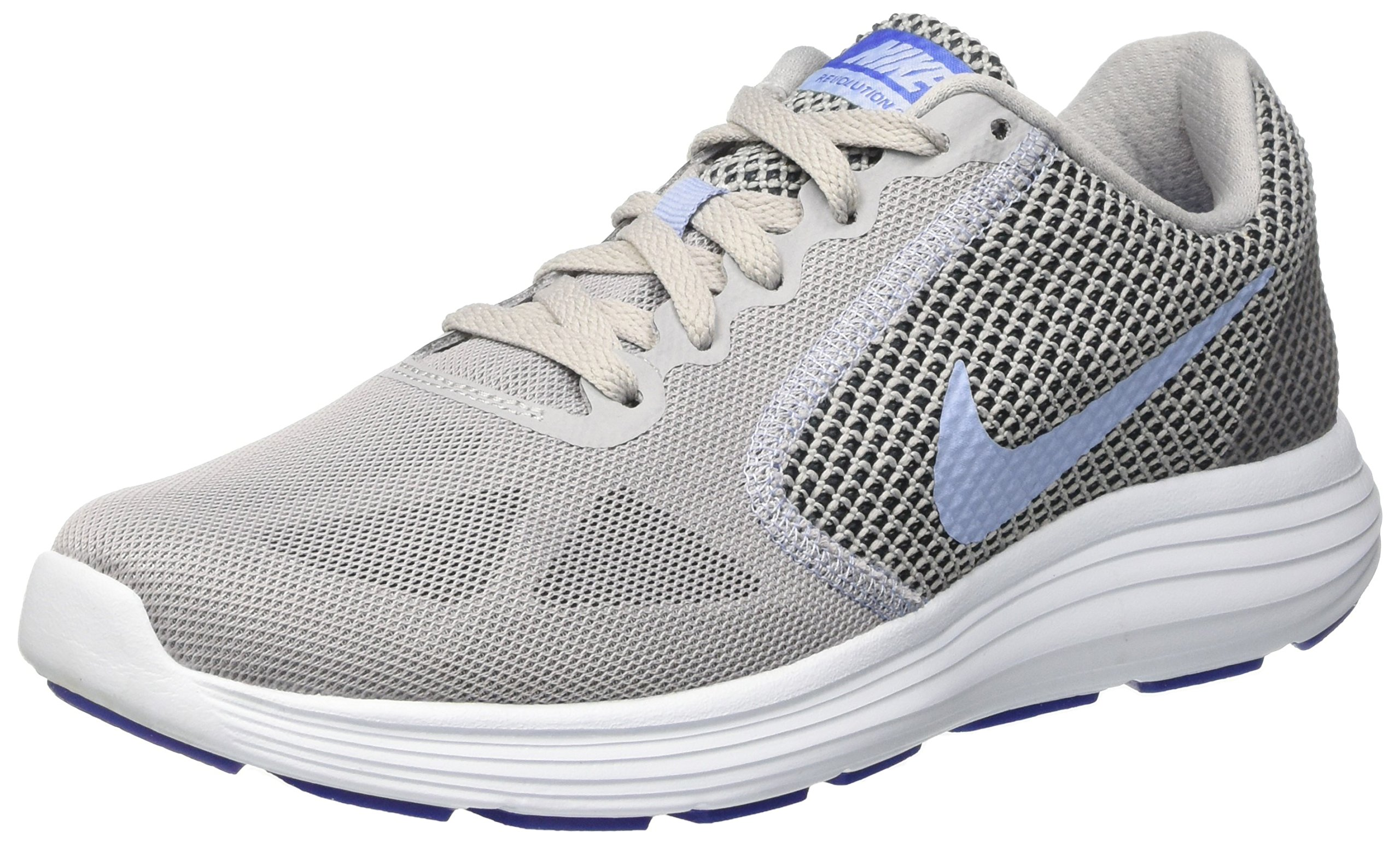 NIKE Women's Revolution 3 Running Shoe, Grey Aluminum Black Blue Tint, 6.5 B(M) US