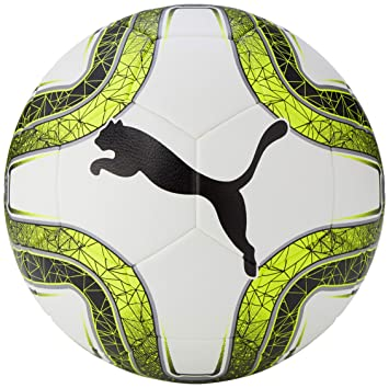 PUMA Final 5 Hardground Balón de Fútbol, Unisex, White/Lemon Tonic ...