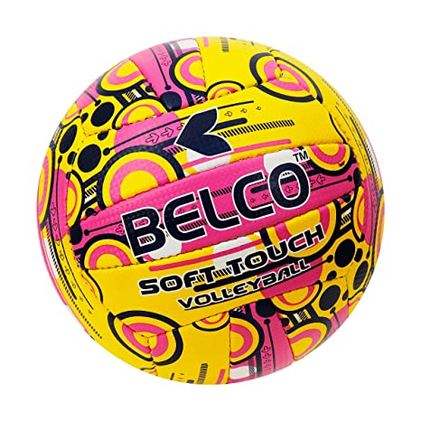 BELCO Sports Soft Touch Volleyball Size 4 Pink Outdoor Volleyballs