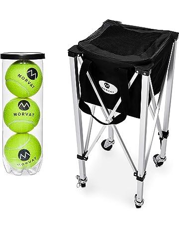 Morvat - Carrito de Pelotas de Tenis (Capacidad para 150 Pelotas), Pelota de