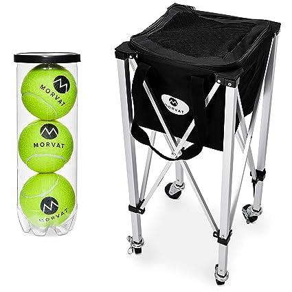 76a82755de Amazon.com   Morvat Tennis Ball Cart (Holds Up to 150 Balls)