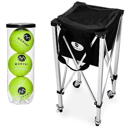Morvat - Carrito de Pelotas de Tenis (Capacidad para 150 ...