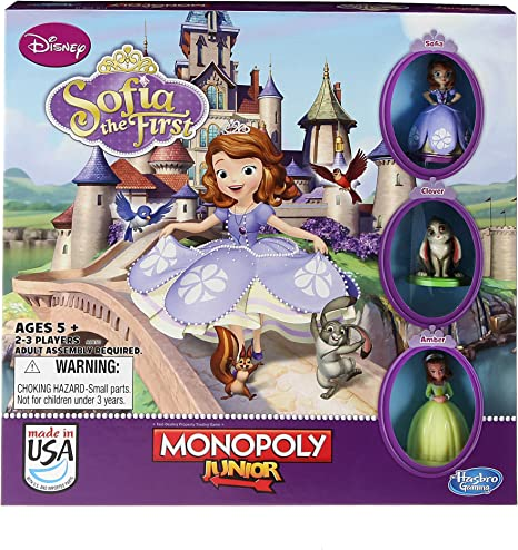 Monopoly Junior Game - Disney Sofia The First Edition by Monopoly: Amazon.es: Juguetes y juegos