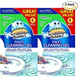 Mega Value Scrubbing Bubbles Toilet Cleaning Gel Fresh, 2 Dispensers, 8 Refills, 48 Gel Stamps, 10.72oz