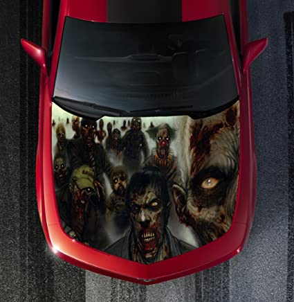 Avery H24 ZOMBIE ZOMBIES - HOOD WRAP - Wraps Decal Sticker Tint Vinyl Image  Graphic Carbon Print Laminated Printed Fiber