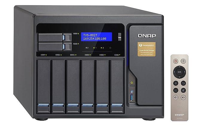 QNAP TVS-882T Ethernet Torre Gris NAS - Unidad Raid (Unidad de ...