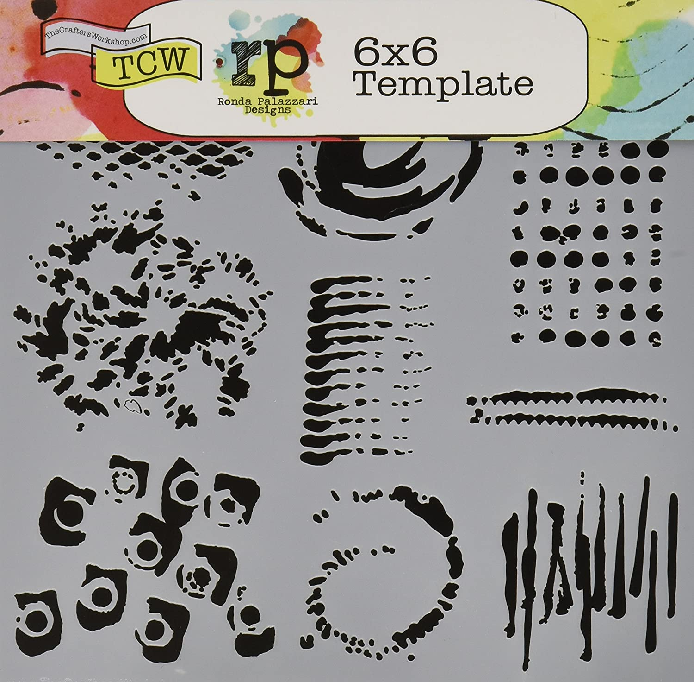 de pl/ástico pl/ástico de Amupper tama/ño de 25,9/x 17 cm flexible Plantilla con letras para ni/ños letterring07 Plateado