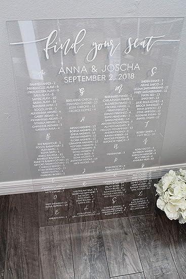 Cartel acrílico para boda, diseño con texto en inglés ...
