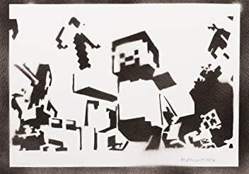 Minecraft Poster Handmade Graffiti Street Art - Artwork