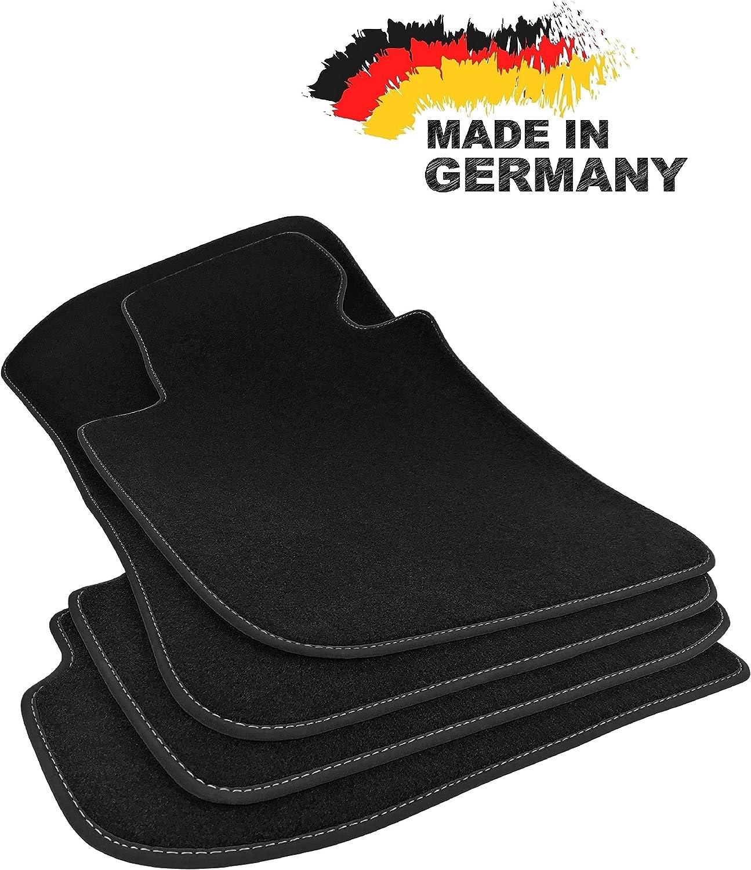 Premium Fußmatten X5 F15 Premium Velours Schwarz Hochwertige Anthrazit Umrandung Original Qualität Auto