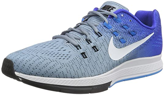 Amazon.com | Nike Mens Air Zoom Structure 19 Blue Grey/White-Racer Blue-Blue Glow 8.0 | Road Running