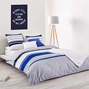 Lacoste Auckland Comforter Set, Blue, Twin/Twin Extra Long