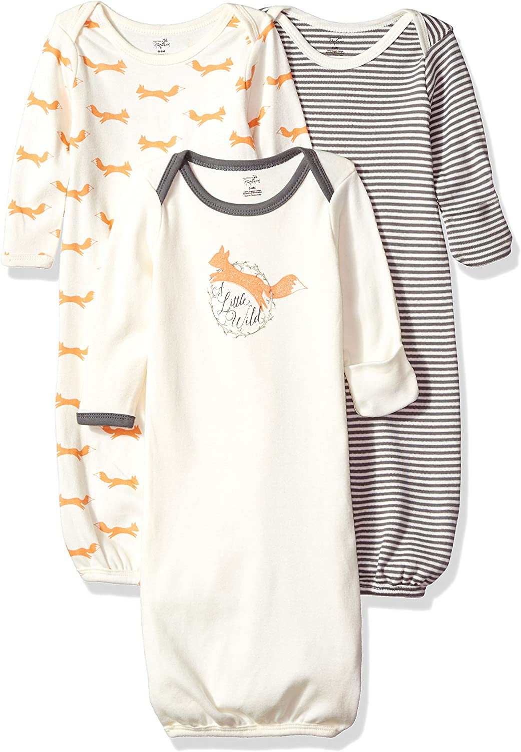 Touched by Nature Unisex Baby Organic Cotton Gowns: Clothing