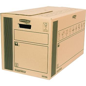 Bankers Box 6206602 - Caja de transporte y mudanza resistente, extra grande, 10 unidades: Amazon.es: Oficina y papelería
