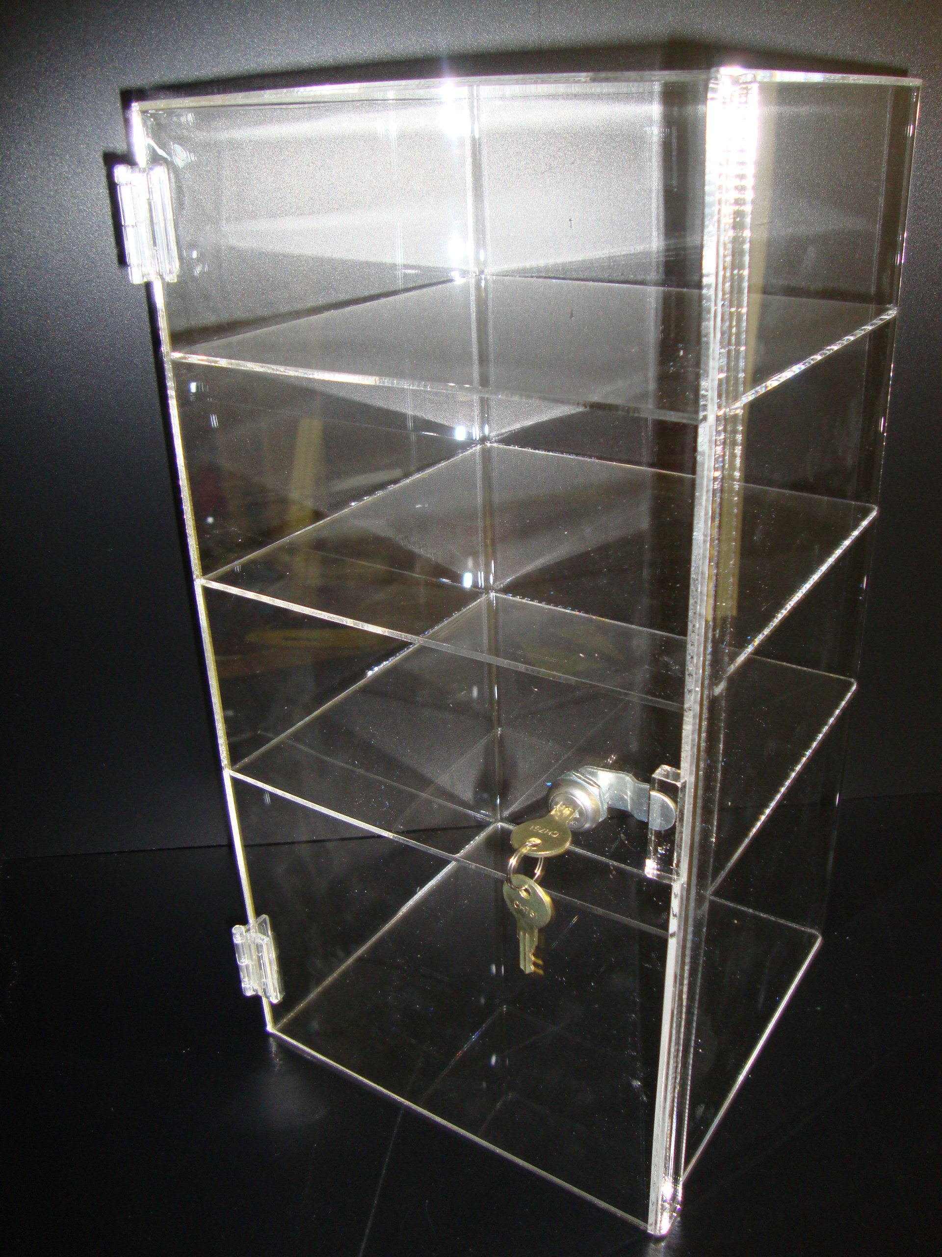 LuciteDisplay Acrylic Lucite Showcase Jewelry Pastry Bakery Counter Display W/door & Lock (9 1/2'' x 9 1/2'' x 19''H)