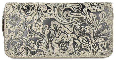 Belli Vintage Piel – Cartera de mujer 6955025 Secret Cartera Marrón I gris – 19