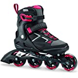 Rollerblade Macroblade 80 Women's Adult Fitness Inline Skate, Black and Pink, Performance Inline Skates