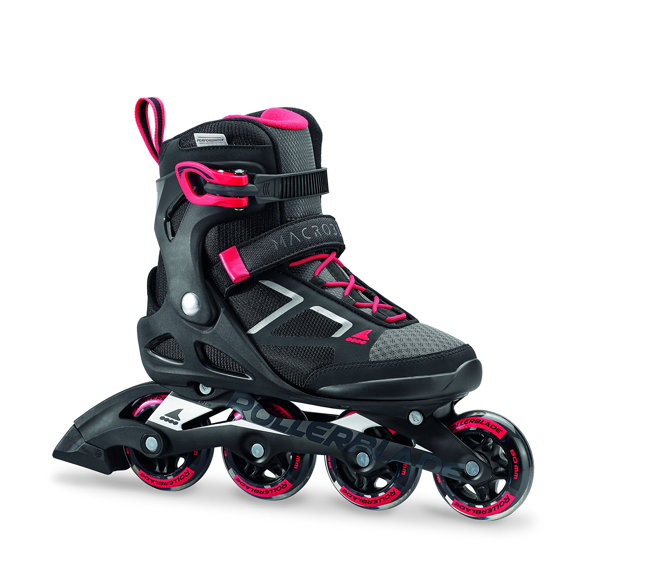 Rollerblade Macroblade 80 Women's Adult Fitness Inline Skate, Black and Pink, Performance Inline Skates by Rollerblade (Image #1)
