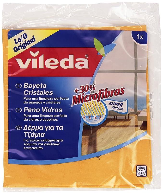 Vileda Bayeta Para Cristales Con 30% Microfibras - 1 Unidad: Amazon.es: Amazon Pantry