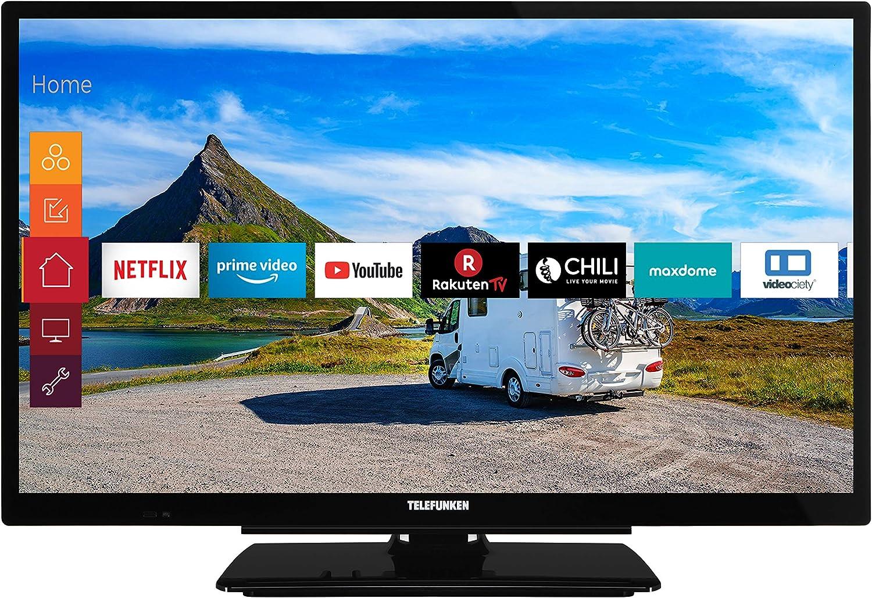 Telefunken Xf22g501v 55 Cm 22 Zoll Fernseher Full Hd Triple Tuner Smart Tv Prime Video 12 V Works With Alexa Heimkino Tv Video