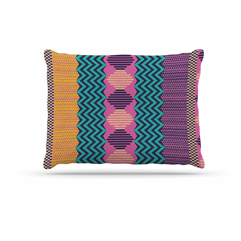 KESS InHouse Akwaflorell Knitted Lavender Green Pattern Dog Bed, 30  x 40