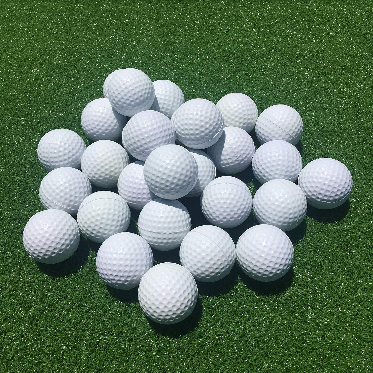 SkyLife Golf Practice Balls 24 Count, Soft Golf Foam Balls for Indoor Outdoor Backyard Training (White 24pcs) by SkyLife