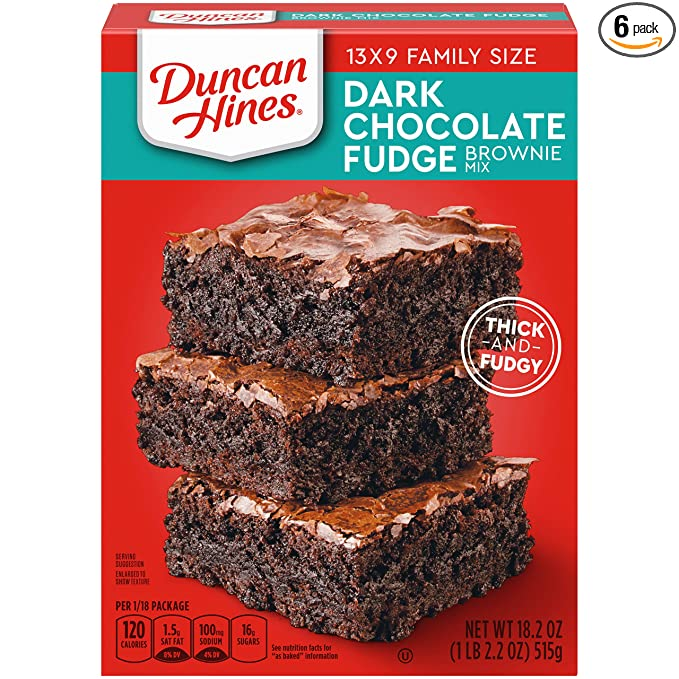 Amazon Com Duncan Hines Dark Chocolate Fudge Brownie Mix 18 2 Oz Grocery Gourmet Food
