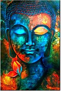 Amazon Com Shuaxin Modern Large Buddha Wall Art Print On Canvas