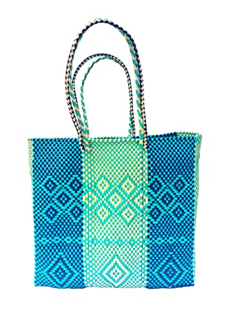 Amazon.com: CONDESA Mexican Handmade plastic bag, Beach Bag ...