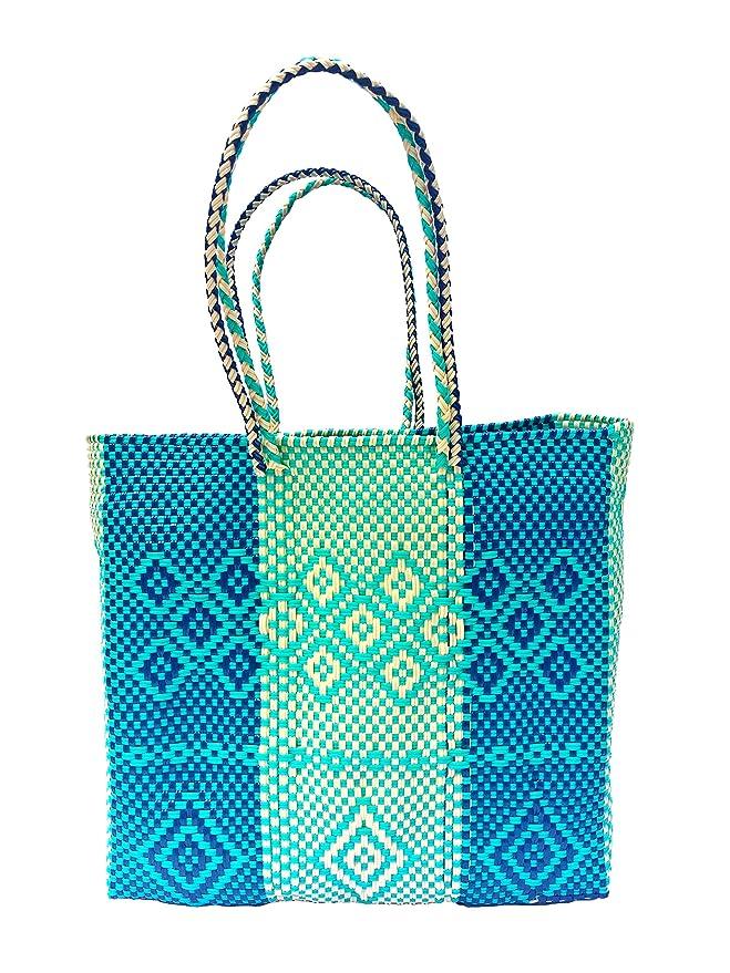Amazon.com: Condesa Bolsa de plástico mexicana hecha a mano ...