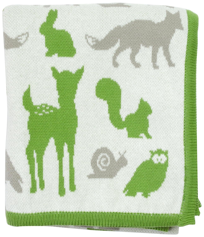 DARZZI Woodland Animal Baby Blanket, Moss Green Combo by DARZZI