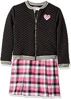 Youngland Little Girls' 2 Pc Set, Dress With Bomber Jacket