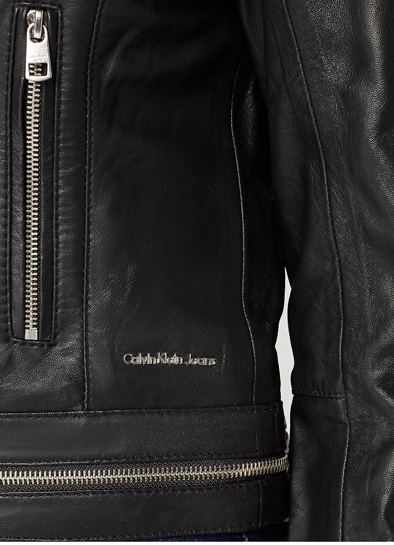 3b7e1c472 Calvin Klein Women's Omega Leather Biker Cape, Black (Ck Black 099 ...