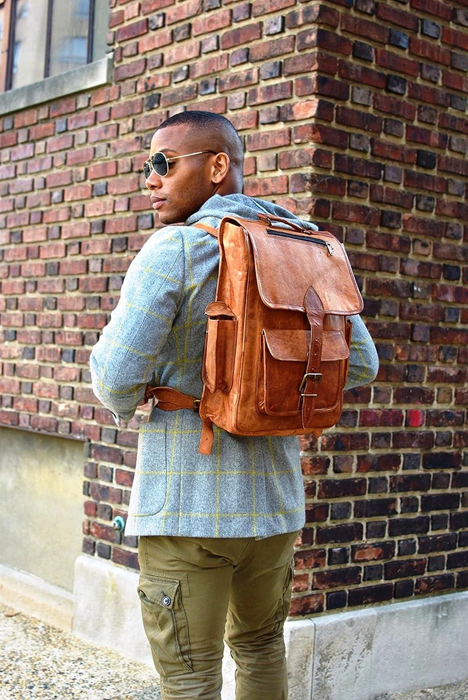 Handmade Bag Wala Genuine Leather Backpack Laptop Bag for Men Women Gift for him her Saddlebags