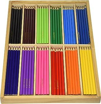 Playbox Lápices de Colores en Caja de Madera (12 Colores) 180 pcs ...