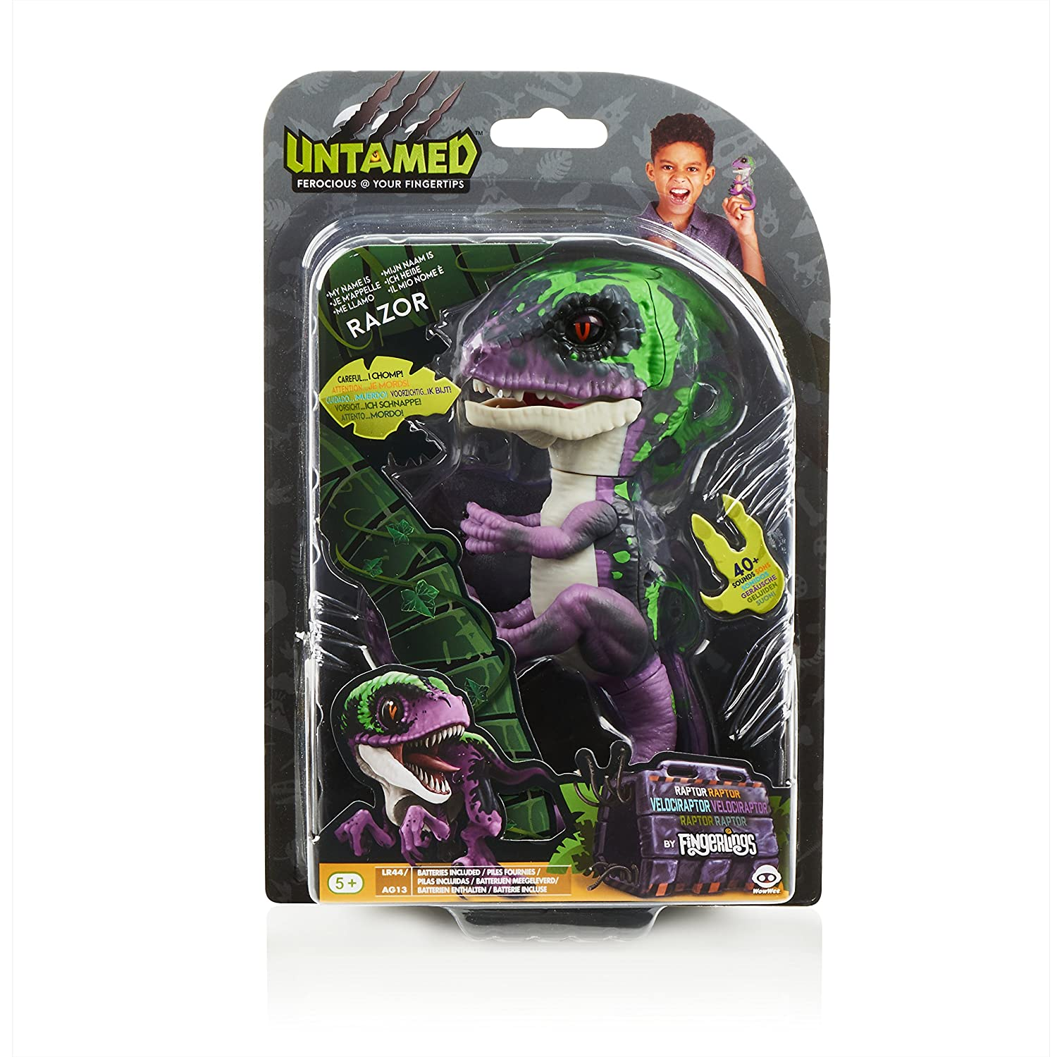 Wow Wee Razor Fingerlings Velociraptor, Color Morado (3784)