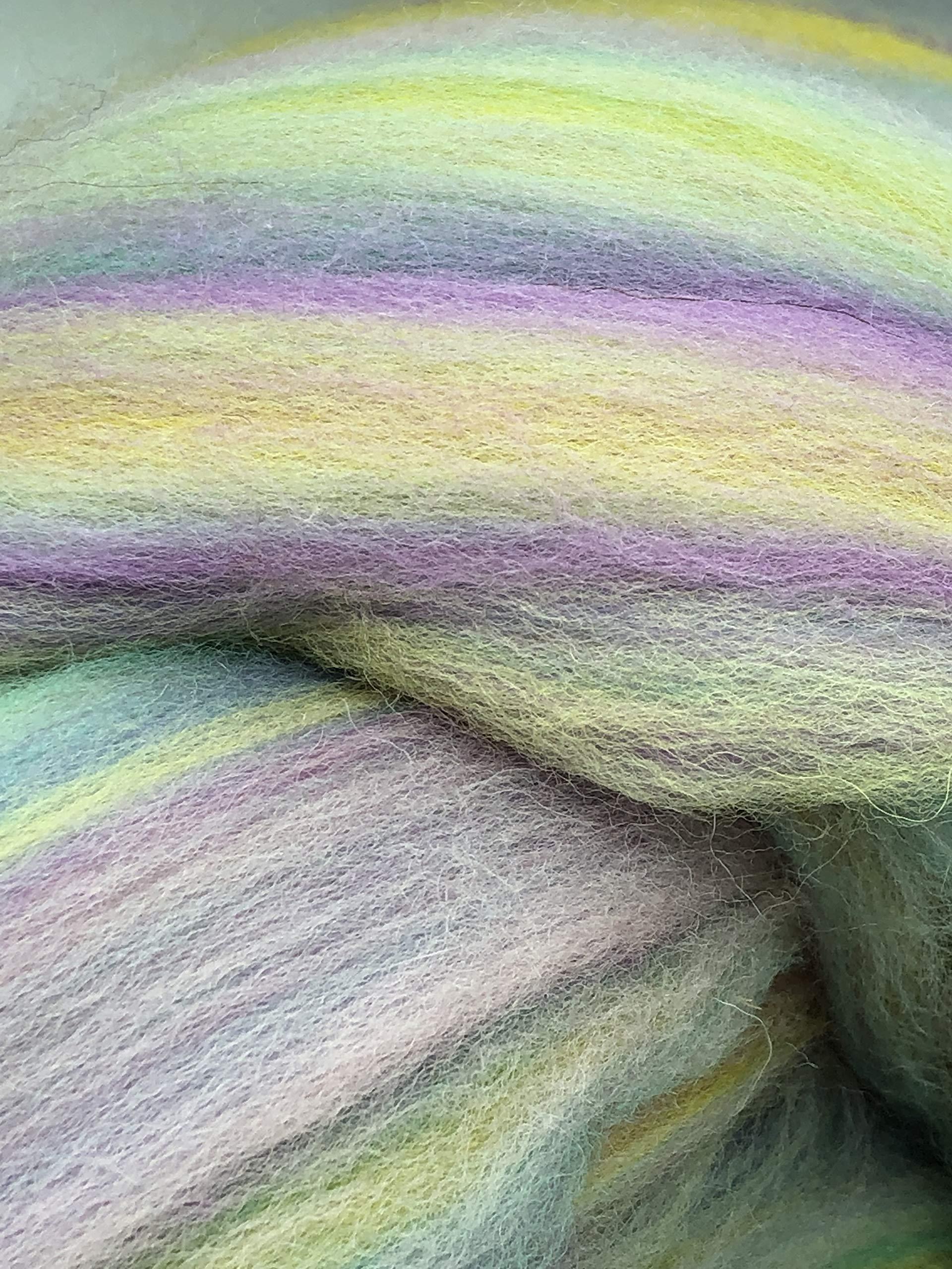 Shep's Pastel Rainbow Merino Wool Top Roving Spinning, Felting Crafts USA (4lb) by Shep's Wool (Image #3)