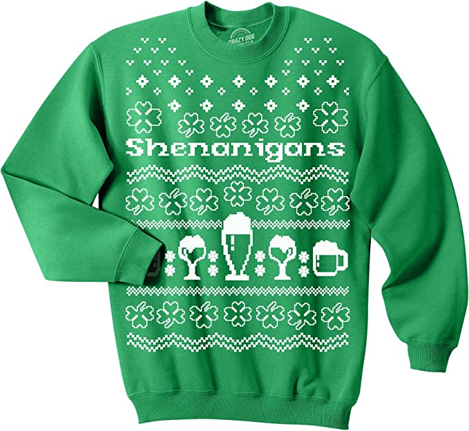 St Patricks Day Sweater Hooligan Funny Novelty Fancy Dress Top Ireland Irish New
